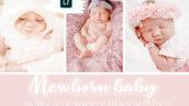 20 پریست لایت روم حرفه ای نوزاد Newborn Baby Mobile & Desktop Lightroom Presets