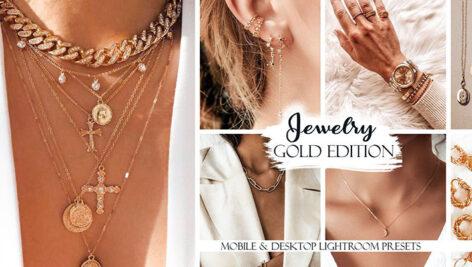 20 پریست لایت روم دسکتاپ و موبایل جواهرات Jewelry Lightroom Presets Gold Edition