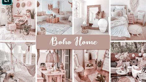 20 پریست لایت روم دسکتاپ و موبایل دکوراسیون داخلی Boho Home Mobile & Desktop Ligthroom Presets