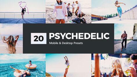 20 پریست لایت روم و پریست کمرا راو و لات رنگی Psychedelic Lightroom Presets