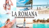 34 پریست لایت روم حرفه ای و پریست کمرا راو La Romana Lightroom Presets Pack