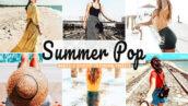 34 پریست لایت روم و Camera Raw و اکشن فتوشاپ تابستان رویایی Summer Pop Mobile & Desktop Lightroom Presets