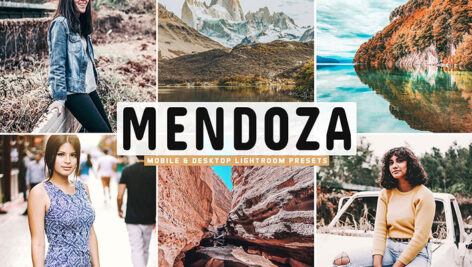 34 پریست لایت روم و Camera Raw و اکشن فتوشاپ مندوزا آرژانتین Mendoza Mobile & Desktop Lightroom Presets