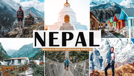 34 پریست لایت روم و Camera Raw و اکشن فتوشاپ نپال Nepal Mobile & Desktop Lightroom Presets