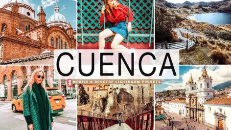 40 پریست لایت روم و Camera Raw و اکشن فتوشاپ Cuenca Mobile & Desktop Lightroom Presets