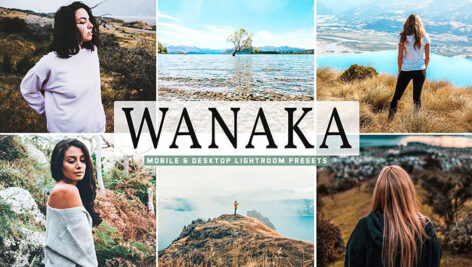 40 پریست لایت روم و Camera Raw و اکشن فتوشاپ Wanaka Mobile And Desktop Lightroom Presets