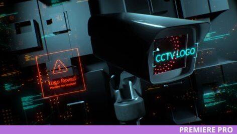 پروژه آماده پریمیر با موزیک لوگو افکت دوربین امنیتی CCTV Security Logo for Premiere