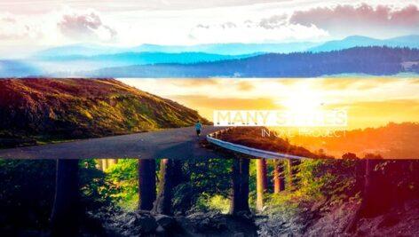 پروژه اسلایدشو پریمیر با موزیک افکت پارالاکس کشویی Minimal Travel Slideshow