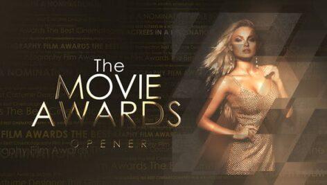 پروژه افتر افکت با موزیک اعلام جوایز فیلم The Movie Awards Opener