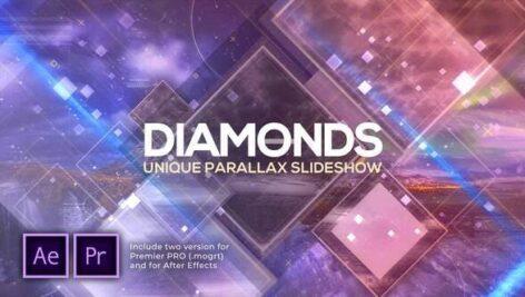 پروژه پریمیر اسلایدشو با موزیک پارالاکس الماس Diamonds Unique Parallax Slideshow