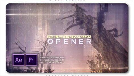 پروژه پریمیر اسلایدشو با موزیک پارالاکس نقطه ای Pixel Sorting Parallax Opener