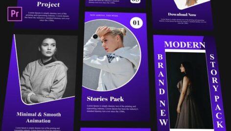 پروژه پریمیر ساخت 10 مدل استوری اینستاگرام با موزیک Instagram Stories Pack