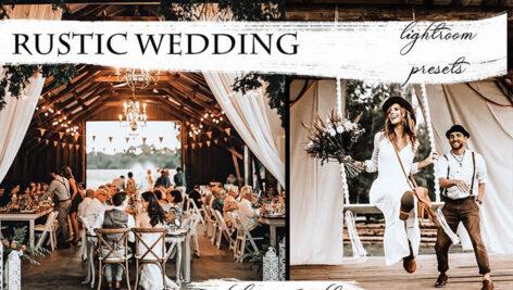 پریست آماده عروسی برای لایتروم تم عروسی روستایی Rustic Wedding Lightroom Presets