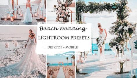 پریست لایت روم حرفه ای تم عروسی ساحلی Beach Wedding Lightroom Presets