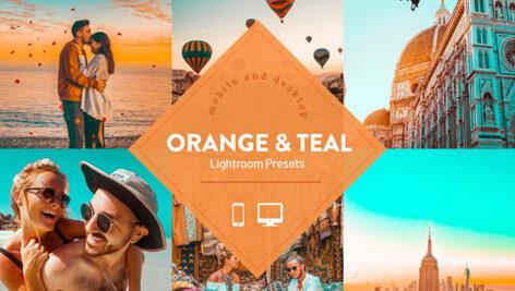 پریست لایت روم حرفه ای تم نارنجی Orange Teal Lightroom Presets
