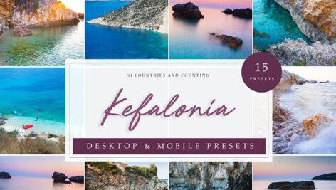 پریست لایت روم حرفه ای عکس مسافرت Kefalonia Lightroom presets