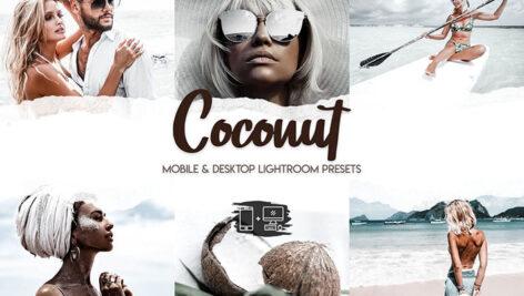 پریست لایت روم و پریست کمرا راو فتوشاپ تم نارگیل Coconut Lightroom Presets