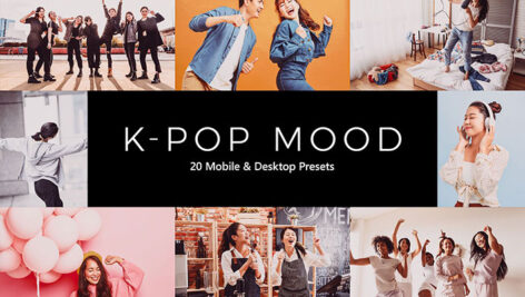 پریست لایت روم و پریست کمرا راو و لات رنگی تم موزیک K-Pop Mood LR Presets