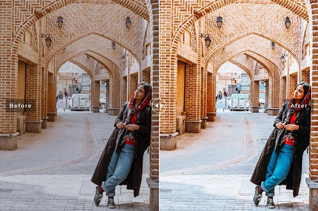 پریست لایت روم و کمرا راو و اکشن فتوشاپ تم تهران Tehran Pro Lightroom Presets