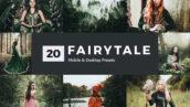 پریست لایت روم و کمرا راو و لات رنگی افسانه Fairytale Lightroom Presets & LUTs