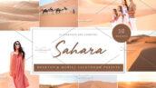 10 پریست لایت روم تم رنگی صحرا Sahara Desert Lightroom Presets
