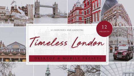 12 پریست لایت روم حرفه ای تم رنگی لندن Timeless London Lightroom Presets
