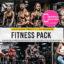 30 پریست لایت روم و کمرا راو مجموعه بدنسازی Fitness Lightroom Presets