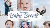 دانلود 30 پریست لایت روم حرفه ای کودک Baby Breath Lightroom Presets