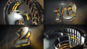 پروژه آماده افتر افکت با موزیک لوگو و شمارش معکوس 3 بعدی Epic Logo Reveal And Countdown
