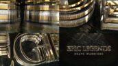 پروژه آماده افتر افکت با موزیک لوگو 3 بعدی طلایی Epic Gold Silver Logo