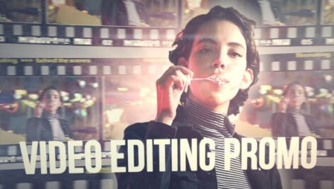 پروژه آماده پریمیر با موزیک تیتراژ حرفه ای سینمایی Video Editing Promo