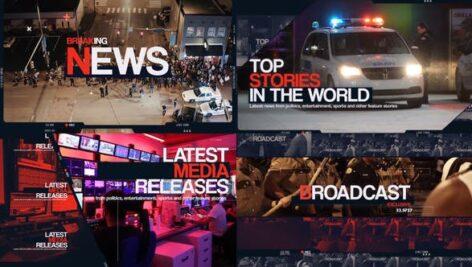 پروژه آماده پریمیر تیتراژ خلاصه اخبار Breaking News Intro