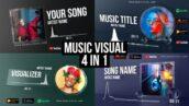 پروژه افتر افکت با موزیک اکولایزر شیشه ای Glass Audio React Music Visualizer