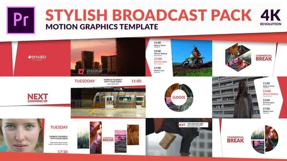 پروژه پریمیر با موزیک رزولوشن 4K اعلام برنامه تلویزیون Clean TV - Stylish Broadcast Pack