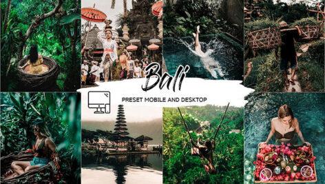 پریست لایت روم حرفه ای موبایل و دسکتاپ تم بالی Bali Lightroom Presets