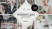 10 پریست لایت روم حرفه ای تم روز عروسی Wedding Day Lightroom Presets Bundle