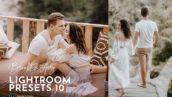 10 پریست لایت روم دسکتاپ و موبایل تم عروس رویایی Bright Airy Wedding Preset Pack