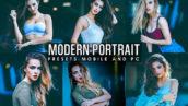 12 پریست لایت روم پرتره و پریست کمرا راو فتوشاپ Modern Portrait V2 Presets