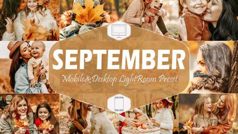 20 پریست لایت روم حرفه ای پاییزی سپتامبر September Mobile & Desktop Lightroom Presets fall Filter