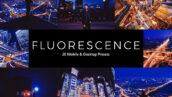 20 پریست لایت روم و پریست کمرا راو و لات رنگی تم نور ماهتابی Fluorescence LR Presets