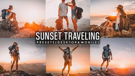 21 پریست لایت روم و پریست کمرا راو فتوشاپ غروب آفتاب Sunset Traveling Presets