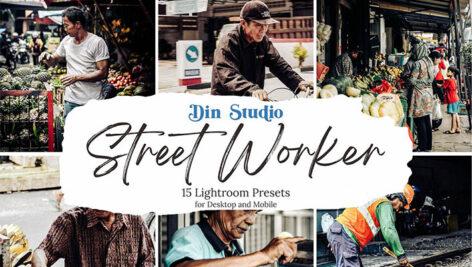 30 پریست لایت روم حرفه ای تم کار خیابانی Street Worker Lightroom Presets