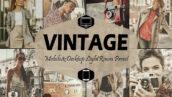 36 پریست لایت روم حرفه ای افکت قدیمی Vintage Mobile & Desktop Lightroom Presets retro presets