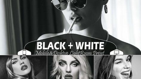 36 پریست لایت روم حرفه ای سیاه و سفید Black White Mobile & Desktop Lightroom Presets B&W Filter