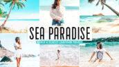40 پریست لایت روم و پریست کمرا راو و اکشن فتوشاپ تم بهشت دریا Sea Paradise Pro Lightroom Presets