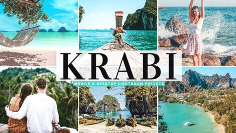40 پریست لایت روم و پریست کمرا راو و اکشن فتوشاپ تم ساحلی Krabi Pro Lightroom Presets
