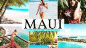 40 پریست لایت روم و پریست کمرا راو و اکشن فتوشاپ تم ماوی هاوایی Maui Pro Lightroom Presets
