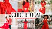 40 پریست لایت روم و کمرا راو و اکشن فتوشاپ تم شکوفه زیبا Chic Bloom Pro Lightroom Presets