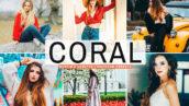 40 پریست لایت روم و کمرا راو و اکشن فتوشاپ تم مرجانی رنگ Coral Pro Lightroom Presets