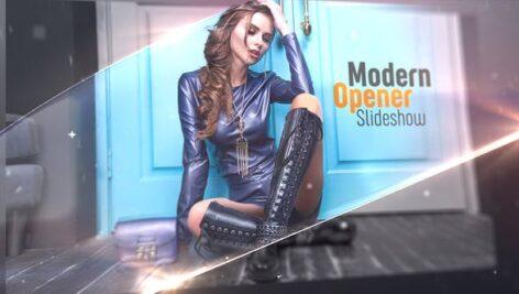 پروژه آماده اسلایدشو مدرن افتر افکت با موزیک Modern Opener Slideshow